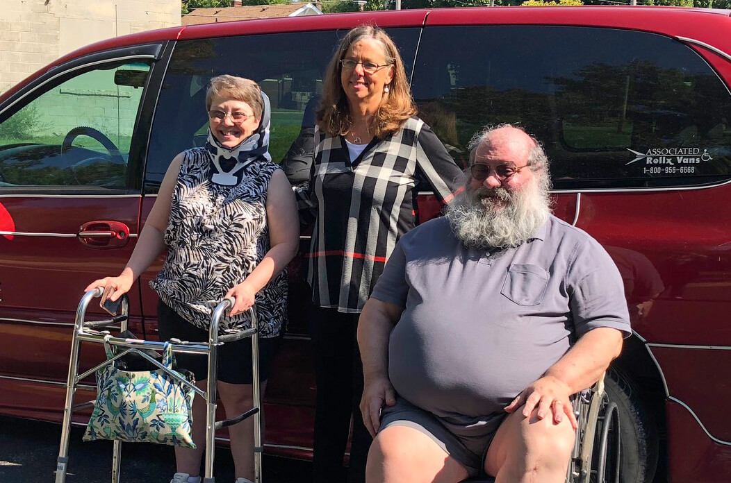IATP Staff and Consumers with new accessible van