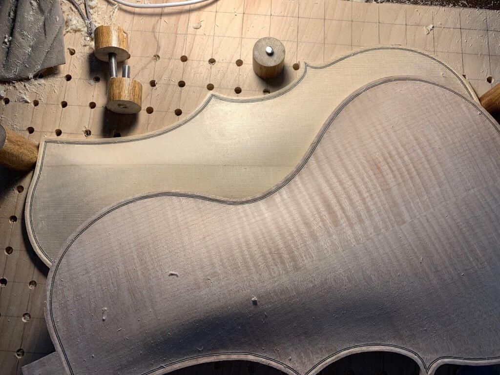 Viola Interior craftsmanship in progress
