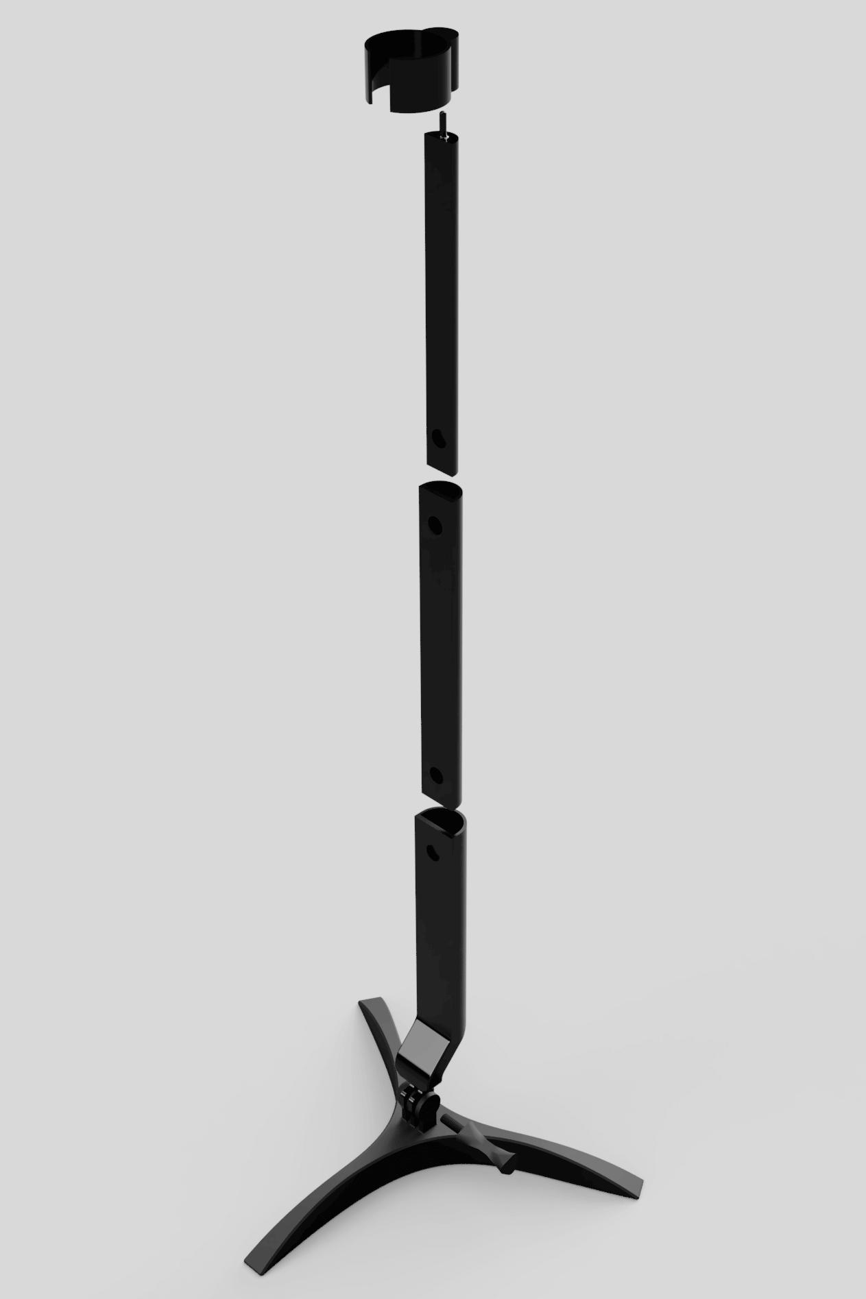 rendering of feeding tube holder design